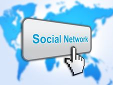 Free Social Network Button Royalty Free Stock Images - 23414649