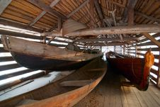 Free A Finnish Wooden Long Boat. Stock Photography - 23414892