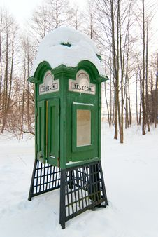Free Old Finnish Phone Booth. Royalty Free Stock Photo - 23414915