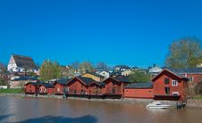 Free Barns Of Porvoo. Royalty Free Stock Photography - 23414957
