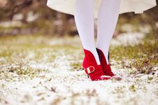 Free Red Shoes Stock Photos - 23415323