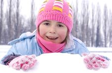 Free Young Girl On The Snow Stock Image - 23418921