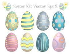 Free Easter Egg Kit! Vector Eps8 / Clip Art Royalty Free Stock Photos - 23419118