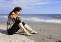 Free Sexy Girl Sitting On The Beach Royalty Free Stock Photo - 23420245