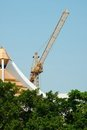 Free Yellow Tower Crane Royalty Free Stock Photos - 23421668