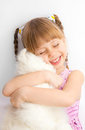 Free Little Girl With A  Toy. Royalty Free Stock Photos - 23423838