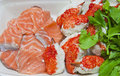 Free Raw Salmon Fish And Claw Crab Royalty Free Stock Images - 23424499