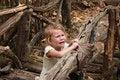 Free Sad Girl On The Bridge Stock Photo - 23429520