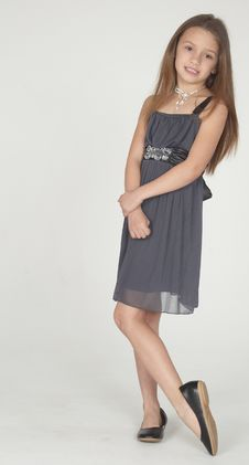 Free Pre Teen Girl Modeling A Dress Stock Photography - 23420072