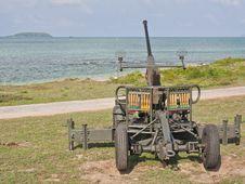 Free Anti Aircraft  Gun Royalty Free Stock Image - 23424546