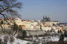 Free Prague Castle In Winter Royalty Free Stock Images - 23425299