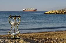 Free Hourglass On A Beach Of The Red Sea, Eilat Stock Photos - 23425583
