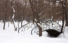 Free Bridge Covered With Snow - RAW Format Stock Photo - 23425820