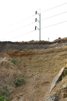 Free Soil Under The Road Collapsed. Stock Photos - 23426813