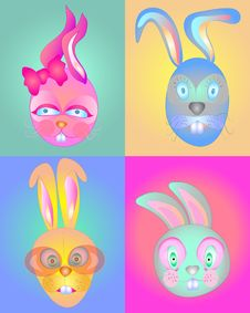 Cute Bunnies Stock Photos