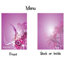 Menu 6 Royalty Free Stock Photos
