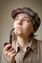 Free Young Woman With A Pipe Royalty Free Stock Photography - 23430297