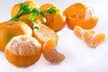 Free Mandarin Orange Sliced Royalty Free Stock Photography - 23437217