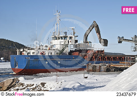 Free Cargo Ship. Royalty Free Stock Images - 23437679