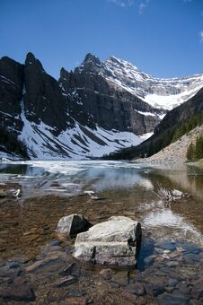 Lake Agnes, Canada Royalty Free Stock Images