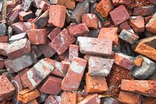 Free Pile Of Bricks Royalty Free Stock Images - 23436429