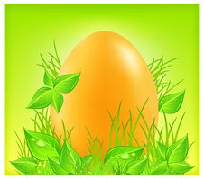 Free Egg On Grass Stock Image - 23437771