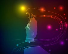 Free A Light Girl S Stock Image - 23438631