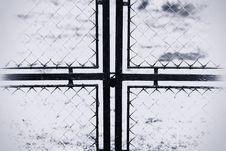 Free Black And White Cross Stock Photos - 23438883