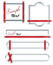 Free Red Ribon Banners Stock Photo - 23442470