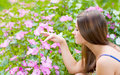 Free Girl With Flowers Stock Photography - 23442692
