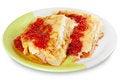 Free Pancake With Cheese And Raspberry Jam Stock Photos - 23449633