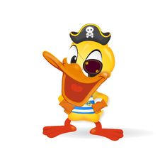 Free Duck - Pirat Illustration Stock Photo - 23441360