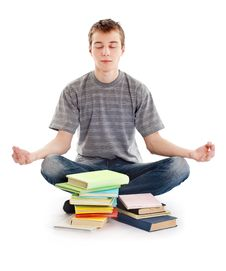 Free Teenager Meditates Stock Images - 23442934