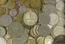 Free Russian And Soviet Coins. Royalty Free Stock Photo - 23444175