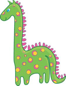 Free Green Dinosaur Royalty Free Stock Photos - 23447138