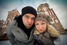 Traveling Couple In Love Royalty Free Stock Photography