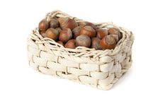 Free Basket With Nuts Royalty Free Stock Photos - 23447748