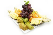 Free Plate Of Sliced Fruit Stock Photos - 23448513