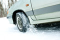 Free Car Rides On Snowy Roads Royalty Free Stock Photo - 23450035