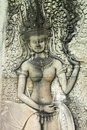 Free Apsara Carving On Wall Of Angkor Wat Stock Photo - 23453140
