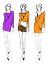 Free SKETCH. Fashion Girl. Royalty Free Stock Photo - 23455295