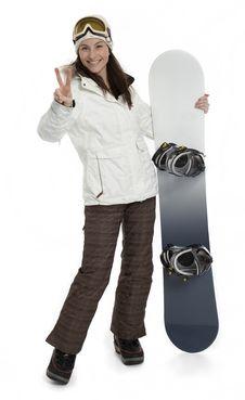 Free Woman Holding Snowboard On White Stock Photos - 23450793