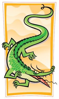 Free Chinese Gator/Dragon Stock Photography - 23451312