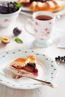 Plum Galette Royalty Free Stock Photography