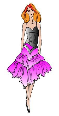 Free SKETCH. Fashion Girl. Stock Photo - 23455220