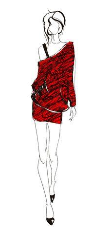 Free SKETCH. Fashion Girl. Stock Photos - 23455303