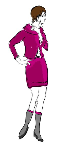 Free SKETCH. Fashion Girl. Royalty Free Stock Images - 23455659