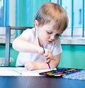 Free Boy Painting Stock Photos - 23463233