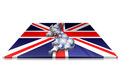 Free 3D Map Of  UK On A 3d Flag Stock Photography - 23464922