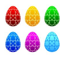 Free Easter Eggs Of The Puzzle Stock Images - 23460574